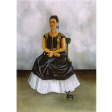 Frida Kahlo - Itzcuintli Dog with Me Tablosu