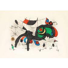 Joan Miro - Le Belier Fleuri Tablosu