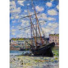 Claude Monet - Boat Lying at Low Tide Tablosu
