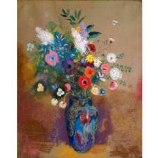 Odilon Redon - Çiçek Buketi Tablosu