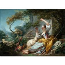 Jean Honore Fragonard - The Shepherdess Tablosu
