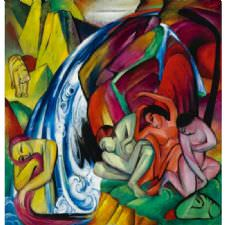 Franz Marc - Waterfall Tablosu