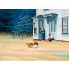 Edward Hopper - Cape Code Akşamı Tablosu