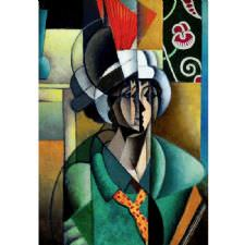 Jean Metzinger - Woman with Fan Tablosu