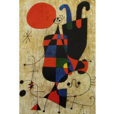 Joan Miro - People and Dog Tablosu