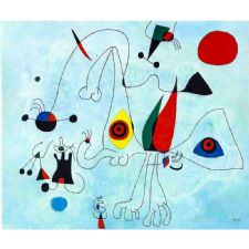 Joan Miro - Women and Birds Tablosu