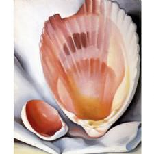 Georgia OKeeffe - Two Pink Shells Tablosu
