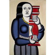 Fernand Leger - Woman Holding Tablosu