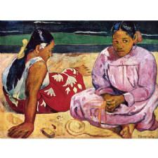 Paul Gauguin - On The Beach Tablosu