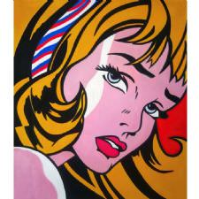 Roy Lichtenstein - Crying Girl Tablosu