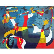 Joan Miro - Hirondelle Amour Tablosu