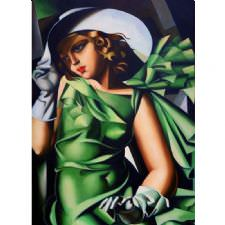 Tamara de Lempicka - Green Gloves Tablosu