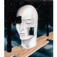 Rene Magritte - The Face Of Genius Tablosu