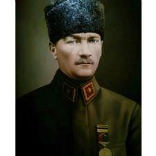 Üniformalı Atatürk Tablosu