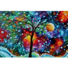 Soyut Renkli Ağaç Tablosu