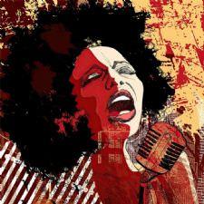 Kadın Caz Şarkıcısı Tablosu