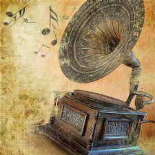 Eskitilmiş Gramofon Tablosu