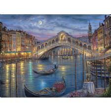 Venedik Gondol Manzarası Tablosu