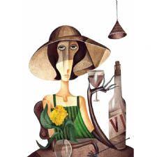 Kadın Vivi Masa Şarabı Tablosu