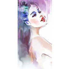 Watercolor Woman Tablosu