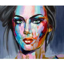 Sanat Kadın Yüzü Tablosu