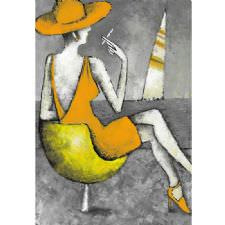 Soyut Woman And Cigarette Tablosu