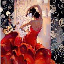 Çalgıcı ve Flamenko Dansçısı Tablosu