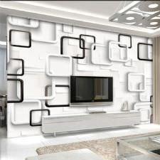 Beyaz Siyah Kareler Duvar Kağıdı