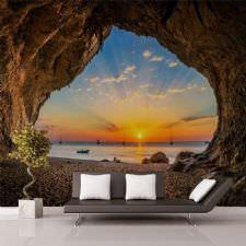 Mağara Günbatımı Duvar Kağıdı