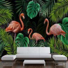 Tropikal Filamingo Duvar Kağıdı
