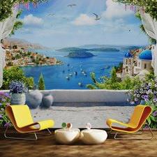 Kasaba Deniz Manzarası Duvar Kağıdı