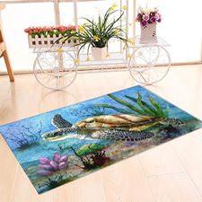 Su Kaplumbağası Banyo Halısı