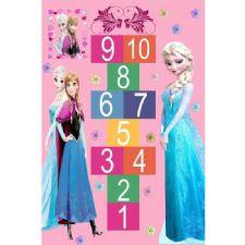Elsa Seksek Oyun Desenli Dijital Baskılı Halı