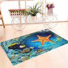 Deniz Yıldızı Akvaryum Banyo Halısı