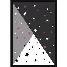Yıldız Demeti Desenli Dijital Baskılı Halı