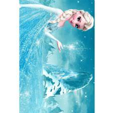 Elsa Prenses Desenli Dijital Baskılı Halı