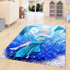 Prenses Elsa Desenli Dijital Baskılı Halı