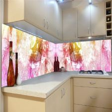 Eskitilmiş Renk Geçişleri Tezgah Arası Cam Panel