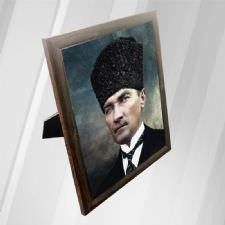 Atatürk Çerceveli Halı Tablo