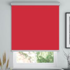 Kırmızı Düz Store Perde