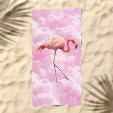 Pembe Bulutlar Flamingo Dijital Baskılı Plaj Havlusu