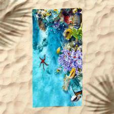Deniz Canlıları Dijital Baskılı Plaj Havlusu