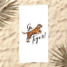 Go Tiger Dijital Baskılı Plaj Havlusu