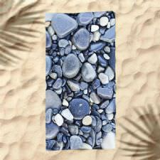 Çakıl Taşları Dijital Baskılı Plaj Havlusu