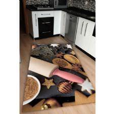 Modern Mutfak Gereçleri Dijital Baskılı Halı