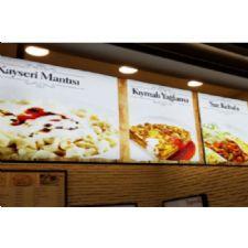 Restoran Duvar Panel Görselli Işıklı Light Box