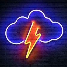 Bulut ve Şimşek Neon Led Aydınlatma