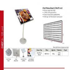 Chef Menu Board Görselli Işıklı Light Box