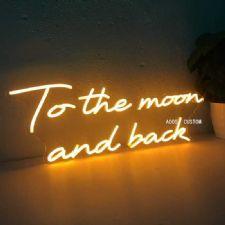 To The Moon And Back Neon Led Aydınlatma