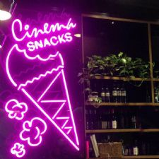 Cornetto Dondurma Neon Led Aydınlatma